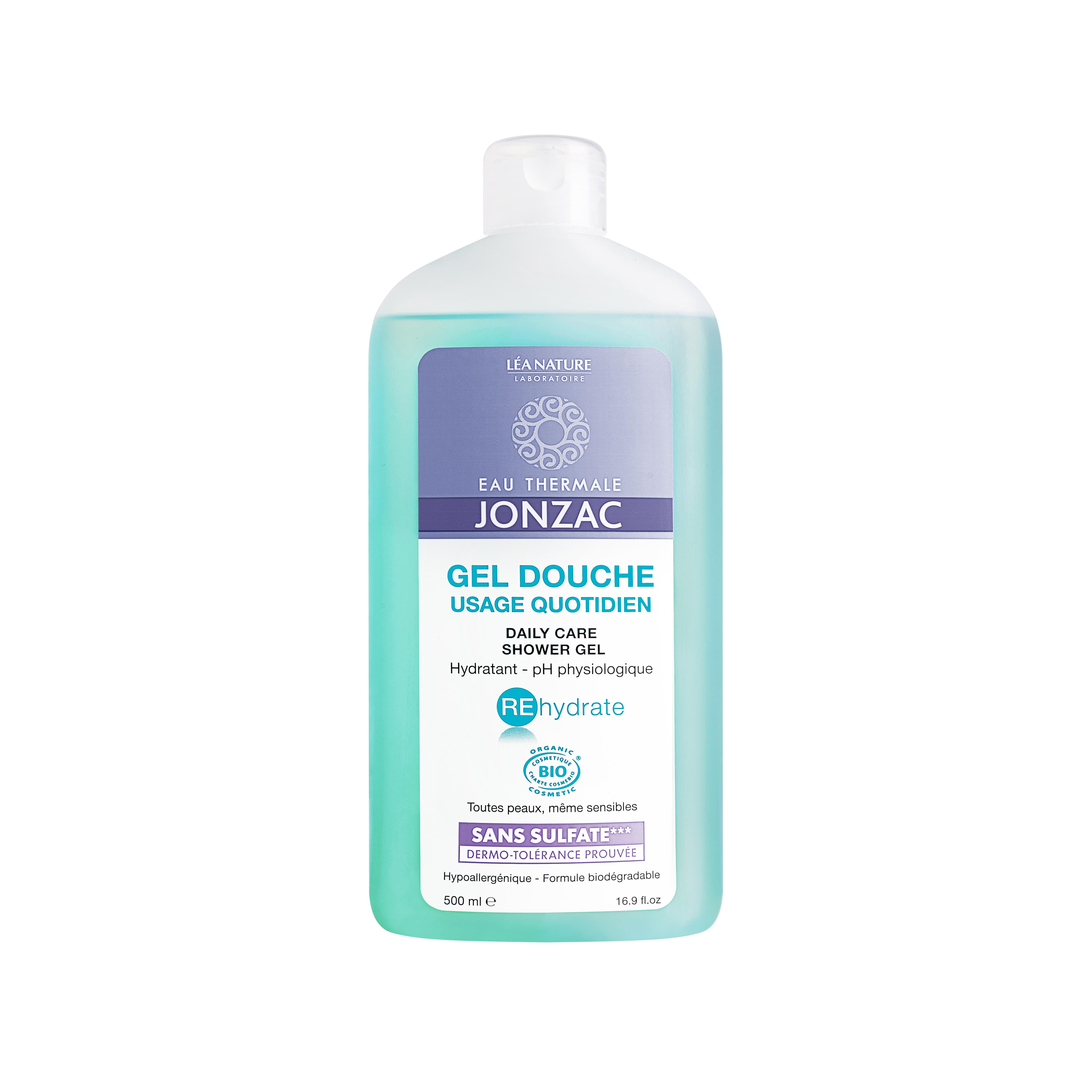 Gel tắm cấp nước hàng ngày Eau Thermale Jonzac – Daily care shower gel 500ML - 808